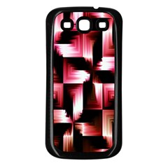 Red And Pink Abstract Background Samsung Galaxy S3 Back Case (black) by Simbadda