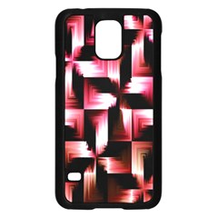 Red And Pink Abstract Background Samsung Galaxy S5 Case (black) by Simbadda