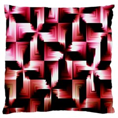 Red And Pink Abstract Background Large Flano Cushion Case (one Side) by Simbadda