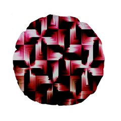 Red And Pink Abstract Background Standard 15  Premium Flano Round Cushions by Simbadda