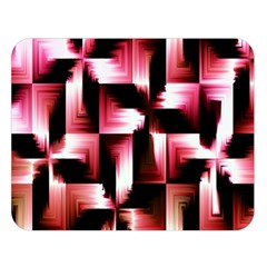 Red And Pink Abstract Background Double Sided Flano Blanket (large)