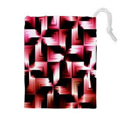 Red And Pink Abstract Background Drawstring Pouches (extra Large) by Simbadda