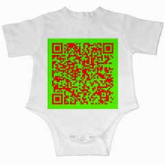 Colorful Qr Code Digital Computer Graphic Infant Creepers by Simbadda