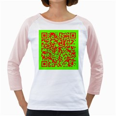 Colorful Qr Code Digital Computer Graphic Girly Raglans by Simbadda
