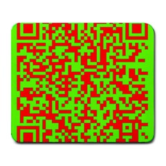 Colorful Qr Code Digital Computer Graphic Large Mousepads by Simbadda