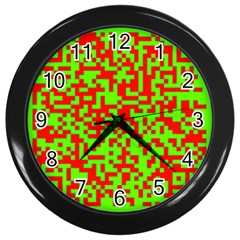 Colorful Qr Code Digital Computer Graphic Wall Clocks (black)