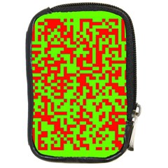 Colorful Qr Code Digital Computer Graphic Compact Camera Cases by Simbadda
