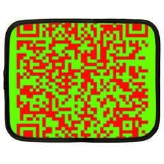 Colorful Qr Code Digital Computer Graphic Netbook Case (xxl)  by Simbadda