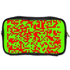 Colorful Qr Code Digital Computer Graphic Toiletries Bags 2 Side by Simbadda
