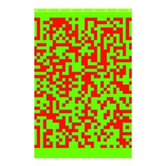 Colorful Qr Code Digital Computer Graphic Shower Curtain 48  X 72  (small)  by Simbadda