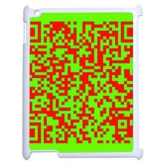 Colorful Qr Code Digital Computer Graphic Apple Ipad 2 Case (white) by Simbadda