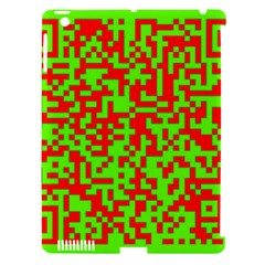 Colorful Qr Code Digital Computer Graphic Apple Ipad 3/4 Hardshell Case (compatible With Smart Cover) by Simbadda