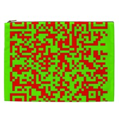 Colorful Qr Code Digital Computer Graphic Cosmetic Bag (xxl)  by Simbadda