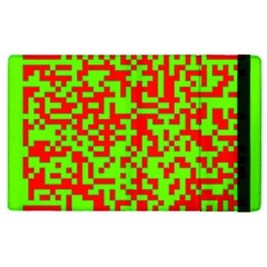 Colorful Qr Code Digital Computer Graphic Apple Ipad 2 Flip Case by Simbadda