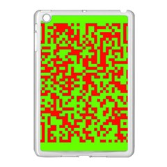 Colorful Qr Code Digital Computer Graphic Apple Ipad Mini Case (white) by Simbadda