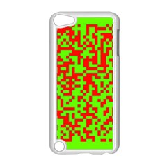 Colorful Qr Code Digital Computer Graphic Apple Ipod Touch 5 Case (white) by Simbadda