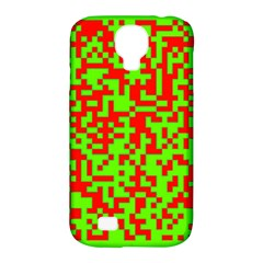Colorful Qr Code Digital Computer Graphic Samsung Galaxy S4 Classic Hardshell Case (pc+silicone)