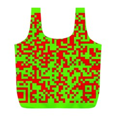 Colorful Qr Code Digital Computer Graphic Full Print Recycle Bags (l)  by Simbadda