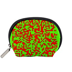 Colorful Qr Code Digital Computer Graphic Accessory Pouches (small)  by Simbadda