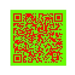 Colorful Qr Code Digital Computer Graphic Small Satin Scarf (square) by Simbadda