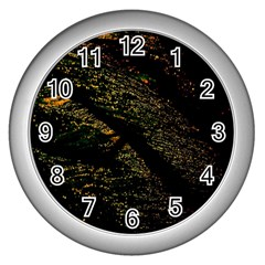 Abstract Background Wall Clocks (silver)