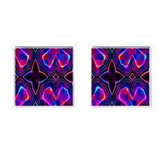 Rainbow Abstract Background Pattern Cufflinks (square) by Simbadda