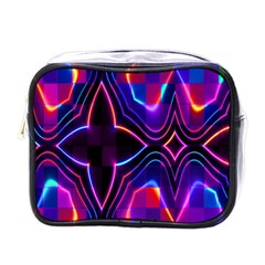 Rainbow Abstract Background Pattern Mini Toiletries Bags by Simbadda