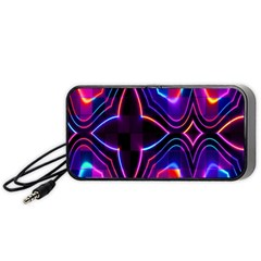 Rainbow Abstract Background Pattern Portable Speaker (black) by Simbadda
