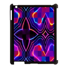Rainbow Abstract Background Pattern Apple Ipad 3/4 Case (black) by Simbadda