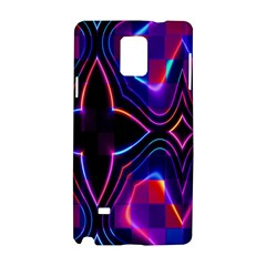 Rainbow Abstract Background Pattern Samsung Galaxy Note 4 Hardshell Case by Simbadda