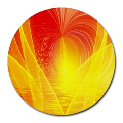Realm Of Dreams Light Effect Abstract Background Round Mousepads by Simbadda