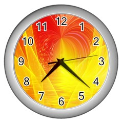 Realm Of Dreams Light Effect Abstract Background Wall Clocks (silver)