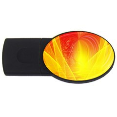 Realm Of Dreams Light Effect Abstract Background Usb Flash Drive Oval (2 Gb) by Simbadda
