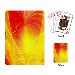 Realm Of Dreams Light Effect Abstract Background Playing Card by Simbadda