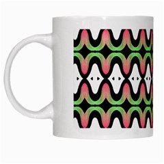 Abstract Pinocchio Journey Nose Booger Pattern White Mugs by Simbadda