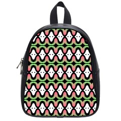 Abstract Pinocchio Journey Nose Booger Pattern School Bags (small)