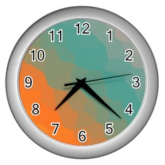 Abstract Elegant Background Pattern Wall Clocks (silver)