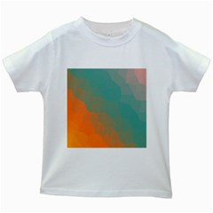 Abstract Elegant Background Pattern Kids White T Shirts