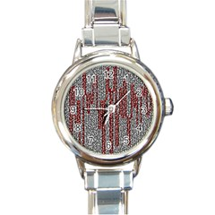 Abstract Geometry Machinery Wire Round Italian Charm Watch by Simbadda
