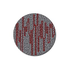 Abstract Geometry Machinery Wire Rubber Round Coaster (4 Pack)