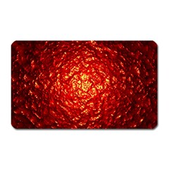 Abstract Red Lava Effect Magnet (rectangular) by Simbadda
