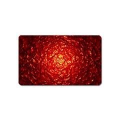 Abstract Red Lava Effect Magnet (name Card) by Simbadda