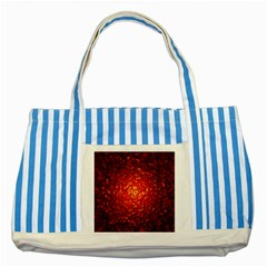 Abstract Red Lava Effect Striped Blue Tote Bag by Simbadda