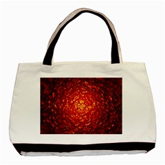 Abstract Red Lava Effect Basic Tote Bag (two Sides) by Simbadda