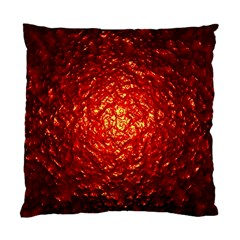 Abstract Red Lava Effect Standard Cushion Case (one Side) by Simbadda