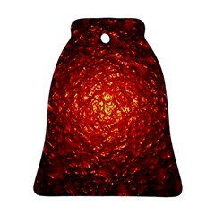 Abstract Red Lava Effect Bell Ornament (two Sides) by Simbadda