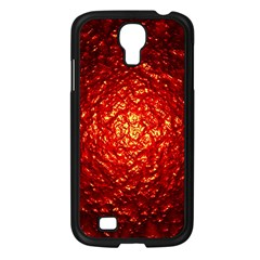 Abstract Red Lava Effect Samsung Galaxy S4 I9500/ I9505 Case (black) by Simbadda