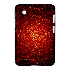 Abstract Red Lava Effect Samsung Galaxy Tab 2 (7 ) P3100 Hardshell Case  by Simbadda