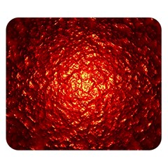 Abstract Red Lava Effect Double Sided Flano Blanket (small)