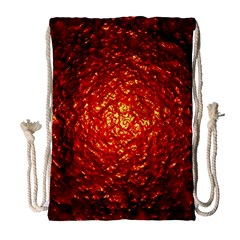 Abstract Red Lava Effect Drawstring Bag (large)